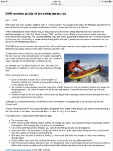 DNR Ice Safety Measures